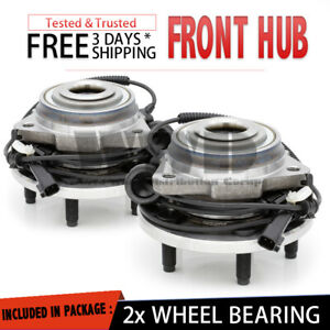 2x Front Wheel Hub Stud Abs Bearing Assembly For 2002 2007 Jeep Liberty 03 04 05