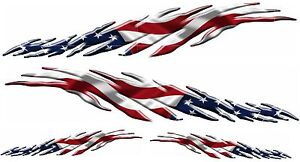 Usa Flag Vehicle Auto Boat Car Graphics Decals Vinyl Stickers 2 50 2 24