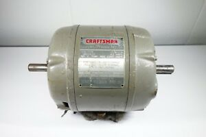 Craftsman Electric Motor 1 3hp 1750 Rpm 115v 6 2 Amp 5 8 Shaft 115 19750