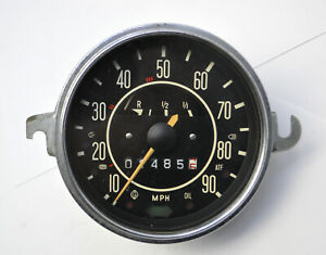 Vw Volkswagen Beetle Bug Ghia Type 1 Speedometer With Fuel Gauge Only 14855 Mi