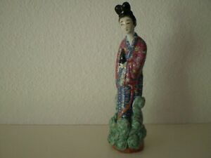 Antique Chinese Famille Rose Immortal 8 Porcelain Figurine Republic Period