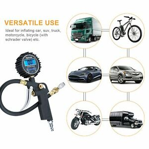 Digital Tire Inflator With Pressure Gauge Medium 250 Psi Air Chuck