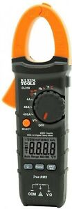 Klein Tools Digital Clamp Meter 400 Amp Ac True Rms Auto Ranging Electrical