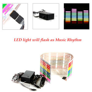 Car Charger Sticker Music Rhythm Led Flash Light Lamp Sound Activated Ce Rohs