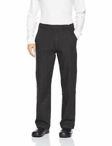 Chef Works Men s Professional Series Chef Pants Gray Stripe S