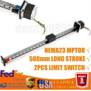 Ball Screw Linear Cnc Rail Guide Slide Stage Actuator Motion Table Nema23 500mm