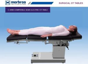 C arm Compatible Semi electric Ot Table Up And Down By Remote Operating Table
