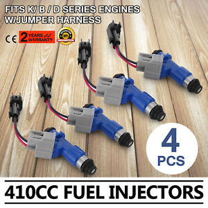 4 Fuel Injectors For Honda Acura Rdx 96 06 Pop Durable W Plug Play Adapters New