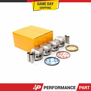 Pistons With Rings 0 50mm Fit Acura Integra Honda Zc P29 1 6 Liter D16a1