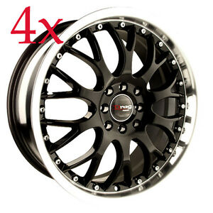 Drag Wheels Dr 19 16x7 5x108 5x115 Black Rims For Buick Oldsmobile Cadillac