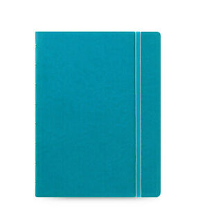 New Filofax A5 Refillable Leather look Ruled Notebook Diary Aqua Blue 115012