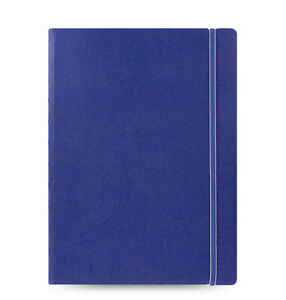 New Filofax A4 Size Refillable Leather look Ruled Notebook Diary Blue 115024
