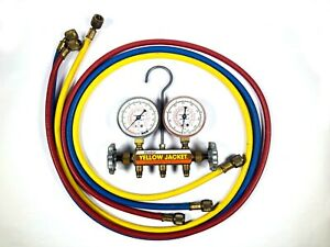 Ritchie Yellow Jacket Test Charging Manifold Set 60 Inch Hoses R 12 R 22