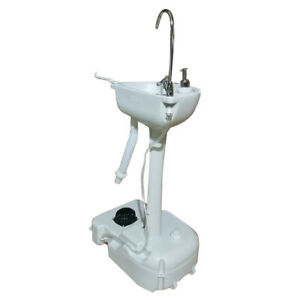 Us Outdoor Hand Washing Sink Faucet Station Wash Basin W garden Pipe Joint White