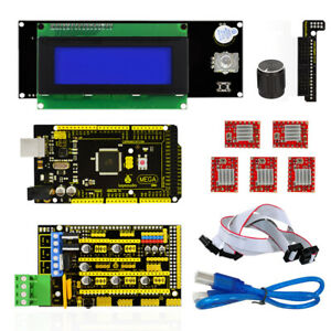 Mega 2560 5pcs A4988 Motor Driver Lcd 2004 Controller Display 3d Printer Kit