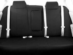 Caltrend Rear Split Bench Black Leather Seat Cover For Toyota Highlander 2014 18