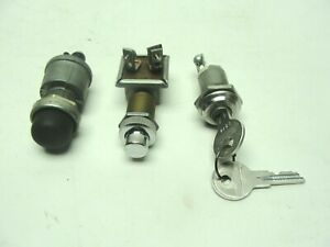 3 Vintage Forklift Machinery Cole Boston Ignition Switches Starter Buttons Usa