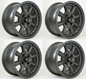 4 New 16 Enkei Compe Wheels 16x7 4x100 38 Gunmetal Paint Rims