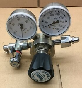 Airgas Gas Regulator Y11 s727d Max Inlet Pressure 3500psi