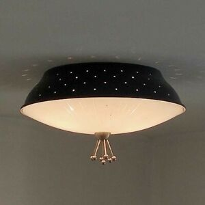 622b 50s 60 S Vintage Ceiling Light Lamp Fixture Atomic Mid Century Eames