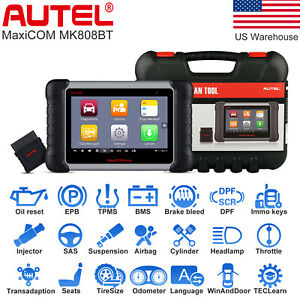 Us Autel Mk808bt Bluetooth Obd2 Full System Code Reader Auto Diagnostic Tool