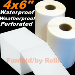 5 10000 Direct Thermal Labels Roll 4x6 Shipping Postage Zebra Zp450 2844