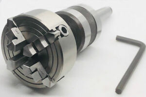Revolving Centre Mt1 Shank With 4 Jaw 65 Mm Chuck Mounting For Lathe s Tailstock
