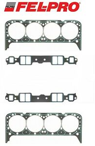 Fel Pro Performance 1205 Intake 1003 Head Gaskets For Chevy Sbc 283 327 350 383