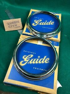 Nos Nors 1941 Pontiac Guide Headlight Bezels Trim Rings With Seals Gm