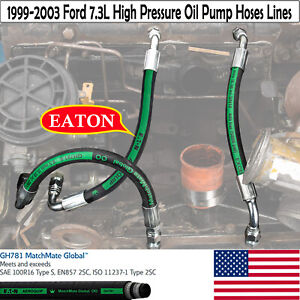 For 99 03 Ford 7 3l Powerstroke Diesel Upgraded High Pressure Oil Pump Hose Kit