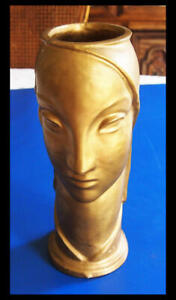 Head Vase Aetco American Encaustic Tile Arts Crafts Pottery Art Deco Vintage