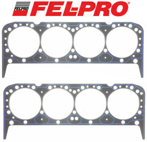 Fel Pro Performance 1010 Head Gaskets 2 For Chevy 283 302 327 350 383 Aluminum