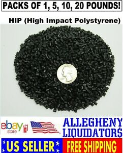1 5 10 20 Black Hips High Impact Polystyrene Plastic Pellets Injection Molding