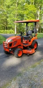 Kubota Bx2350 Tractor With Front End Loader Snow Blade 60 In Belly Mower