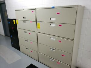 Hon 5 Drawer Lateral Filing File Cabinet 42 W 19 D X 67 H Local Pickup Only