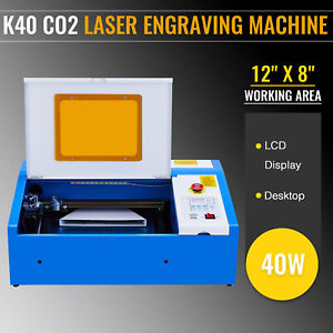 Upgraded Mini 40w Co2 Laser Engraver Cutter Engraving Cutting Machine 300 200mm
