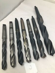 Lot Of 7 Mt3 3mt Morse Taper 3 Drill Bits Cobalt Hss 51 64 1 7 16 Lot J