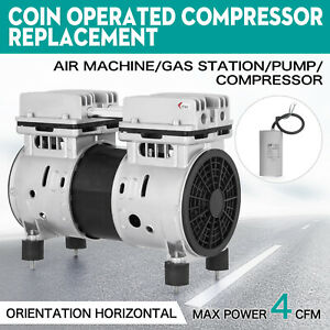Coin Operated Compressor Air Machine Gas Station 4cfm Machines Rebuilt Fitting