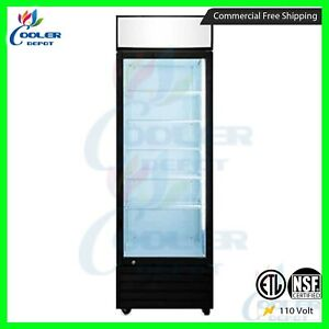 Commercial 1 Glass Door Merchandiser Upright Refrigerator Display Cooler Drink