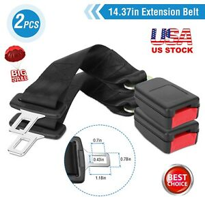 2x 14 Car Auto Seat Seatbelt Safety Belt Extender Extension Buckle Universal