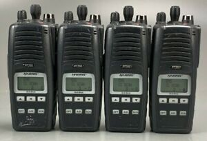 Lot Of 4 Harris P7300 P 7300 Radio 7 800mhz W Multi Dock Charger Mapt 87hxx