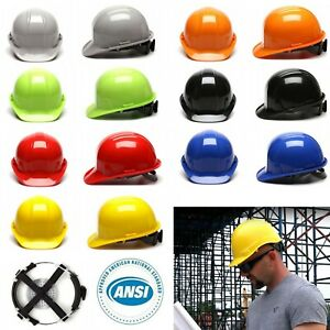 Ansi Class C E G Hard Hat Cap Ratchet Suspension Construction Safety Helmet
