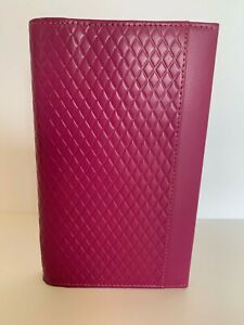 Pink Filofax Personal Adelphi Delux Smooth Leather 6 Ring Organizer wallet