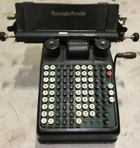 Vintage Burroughs Portable Adding Machine Calculator Tape Register For Parts