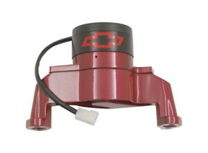 Chevrolet Performance Parts 141 652 Electric Engine Water Pump Aluminum Red With