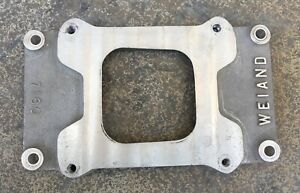Vintage 7160 Weiand Blower Supercharger 471 Single Carb Adapter Plate Gasser