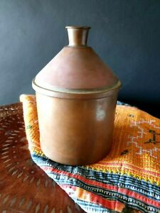Old Copper Container Large Beautiful Display Piece