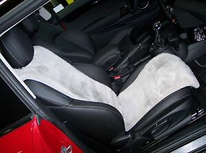 Mini Cooper Sheepskin Seat Covers inserts 2015 1 Pair
