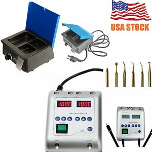 Dental Lab Electric Waxer Carving Knife Pen W 3 Well Analog Wax Pot Heater