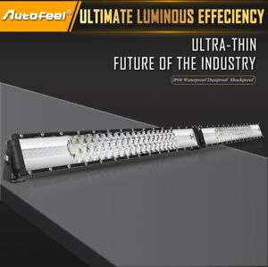 Dual Row 52inch Led Light Bar 2176w Driving Offroad Flood Spot Combo Beam Pk 50